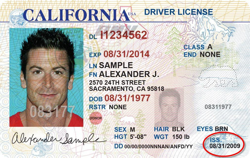 California license after being arrested for DUI (DMV)